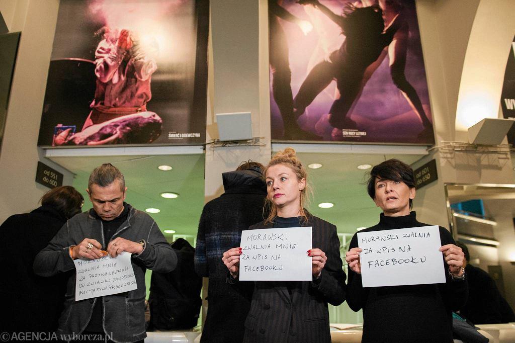 Protest aktorów wrocławskiego Teatru Polskiego