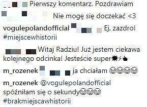 Komentarze na profilu Radosława Majdana