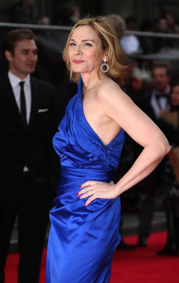 Kim Cattrall  at the Olivier Awards 2013 at the Royal opera House in London on Sunday, April 28th, 2013. (Photo by Joel Ryan/Invision/AP)