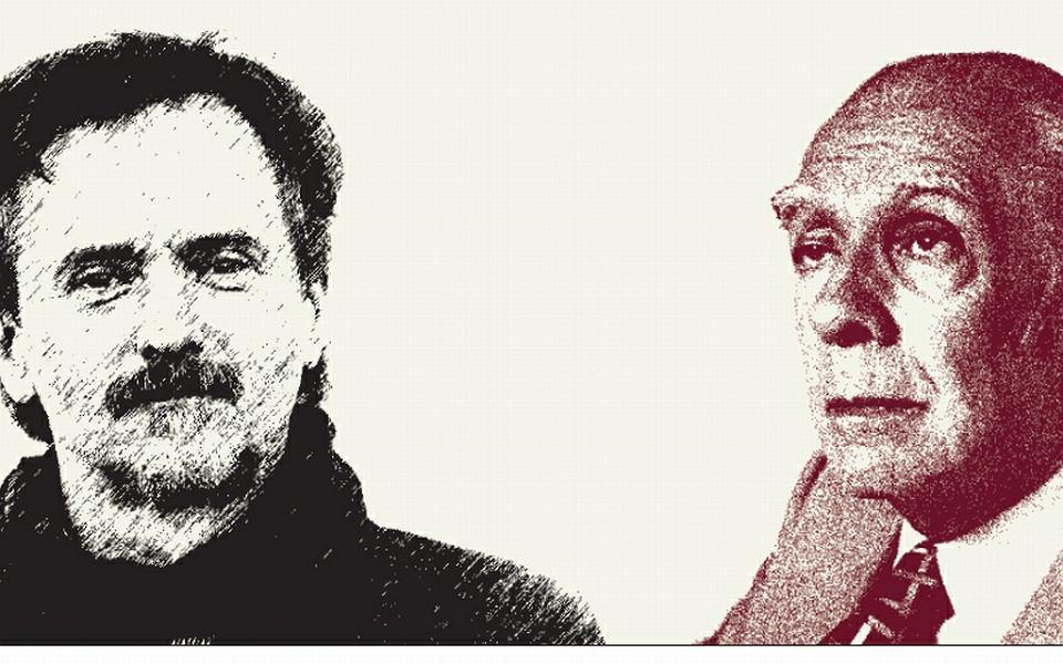 Włodzimierz Nowak i Jorge Luis Borges