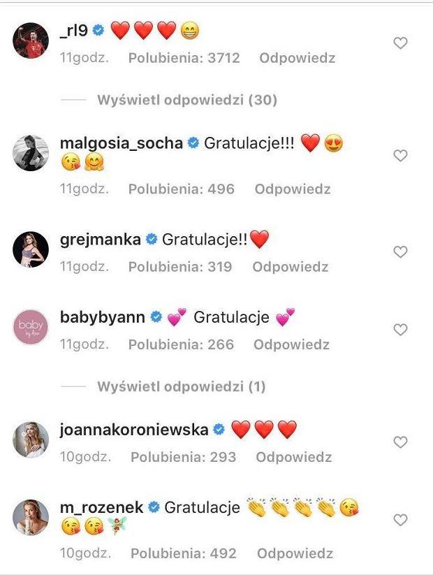 komentarze i gratulacje u Lewandowskiej