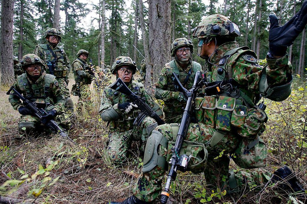 Japońskie wojsko regularnie ćwiczy z amerykańskim. Ma z nim współpracować w obronie na wypadek agresji, dzięki zmianom w prawie przyjętym w 2015 roku. Wcześniej nie było pewności, czy mogłoby się nawet bronić wspólnie z Amerykanami