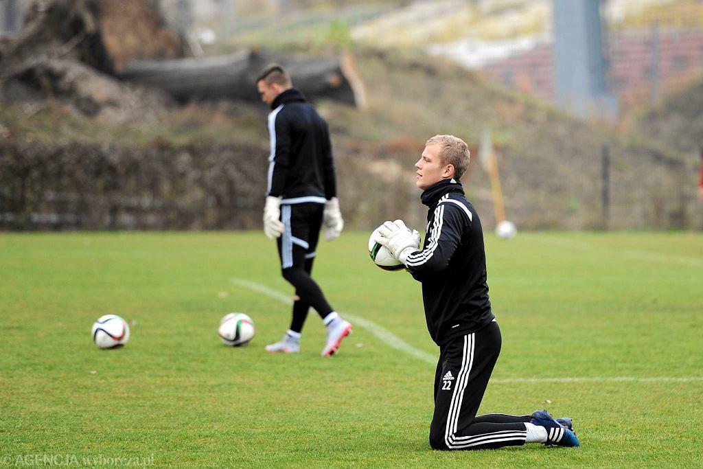 Jakub Wrąbel na treningu