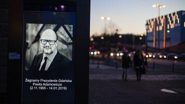Żałoba po śmierci prezydenta Gdańska Pawła Adamowicza