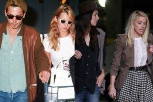 Johnny Depp, Kate Moss, Tasya Van Ree, Amber Heard