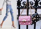 Jeansy i torebki z perłami