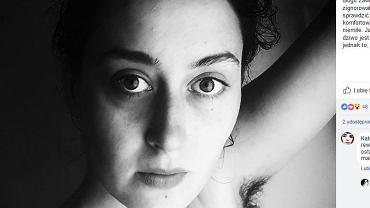 Założycielka profilu Ciałopozytyw: 'Ja się z tymi włosami czuję świetnie, o dziwo jest dużo przyjemniej niż bez, męczy mnie jednak to, że nie mogę czuć się swobodnie'.