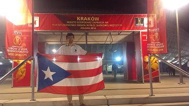 Kibic Portoryko w Kraków Arenie