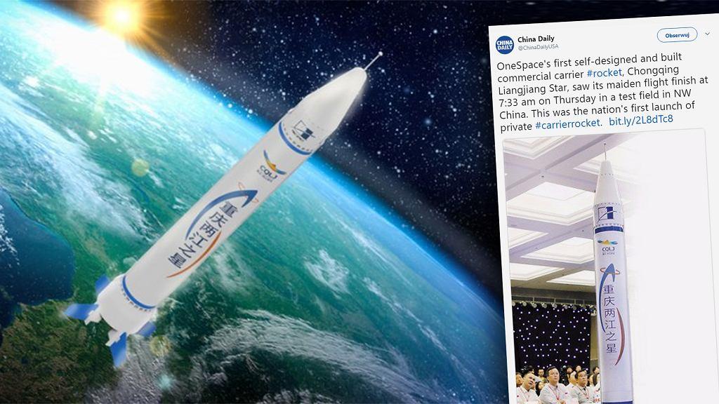 OneSpace - prywatna chińska firma kosmiczna - wystrzeliła pierwszą rakietę.