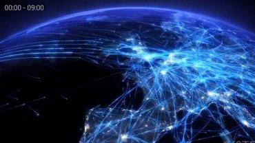Tak wygląda ruch lotniczy nad Europą w typowy dzień lipca - wizualizację pokazało NATS