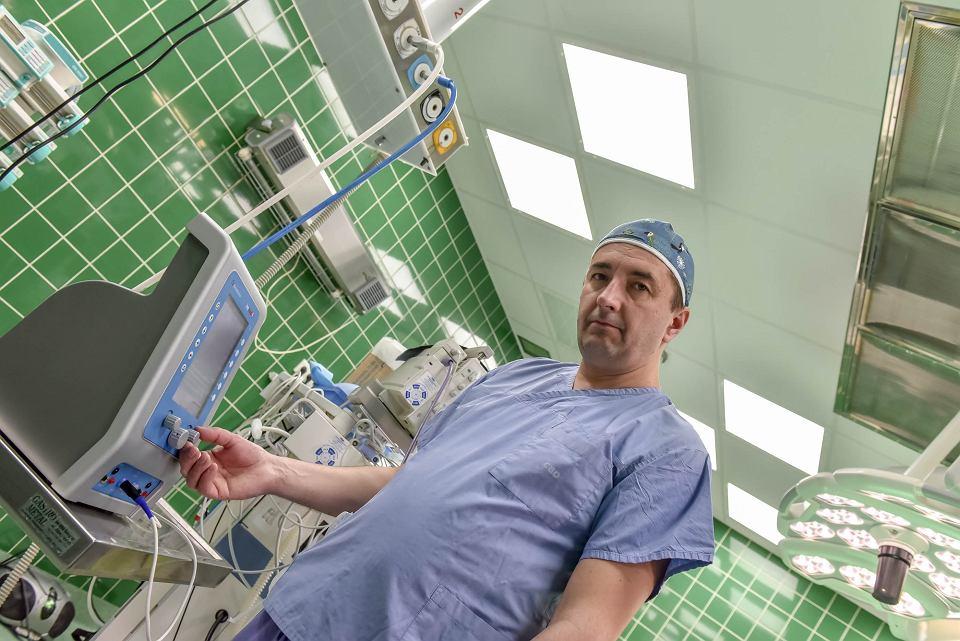 Szpital Uniwersytecki w Zielonej Górze, dr Dawid Murawa, ordynator klinicznego oddziału chirurgii ogólnej i onkologicznej