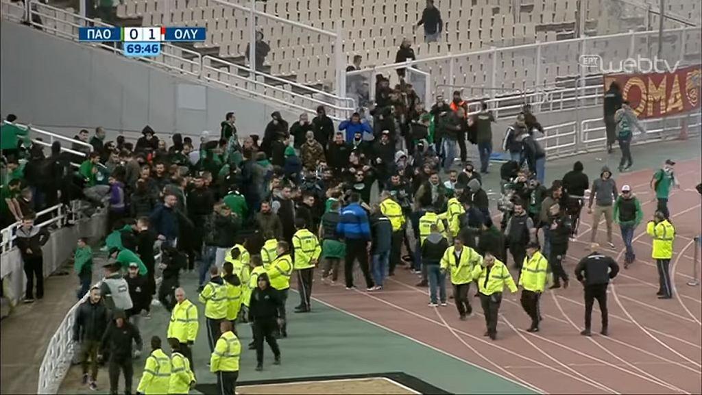 Ogromne zamieszki podczas meczu Panathinaikosu z Olympiacosem