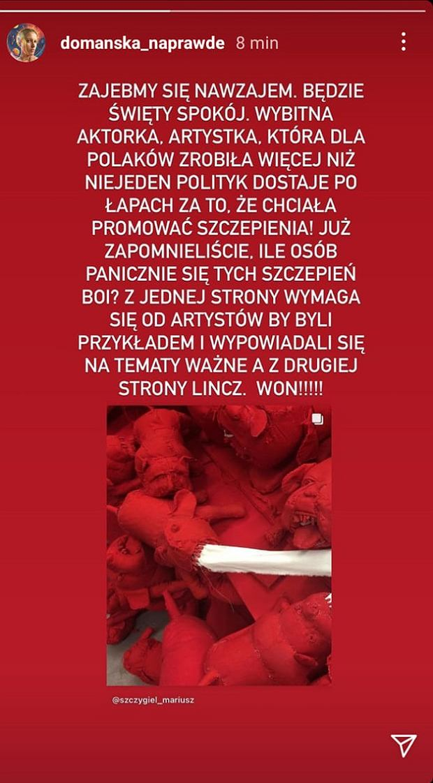 Aleksandra Domańska w obronie Krystyny Jandy