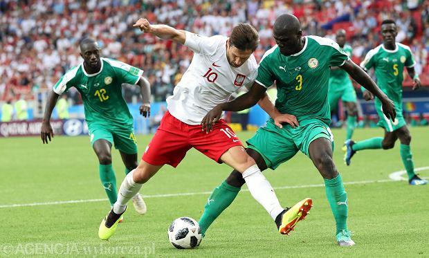 Grzegorz Krychowiak podczas meczu Polska - Senegal. Moskwa, 19 czerwca 2018