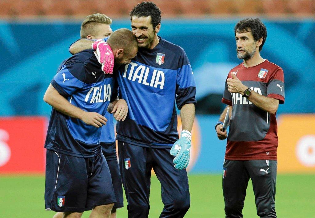 Gianluigi Buffon na treningu