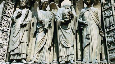 Fragment zdobień przy portyku wejściowym do Notre Dame