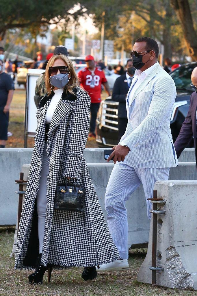 Jennifer Lopez i Alex Rodriguez na Super Bowl