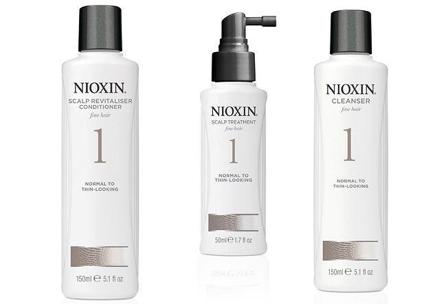 Na wypadanie włosów. Szampon, odżywka i preparat do wcierania Nioxin. Cena 99 zł