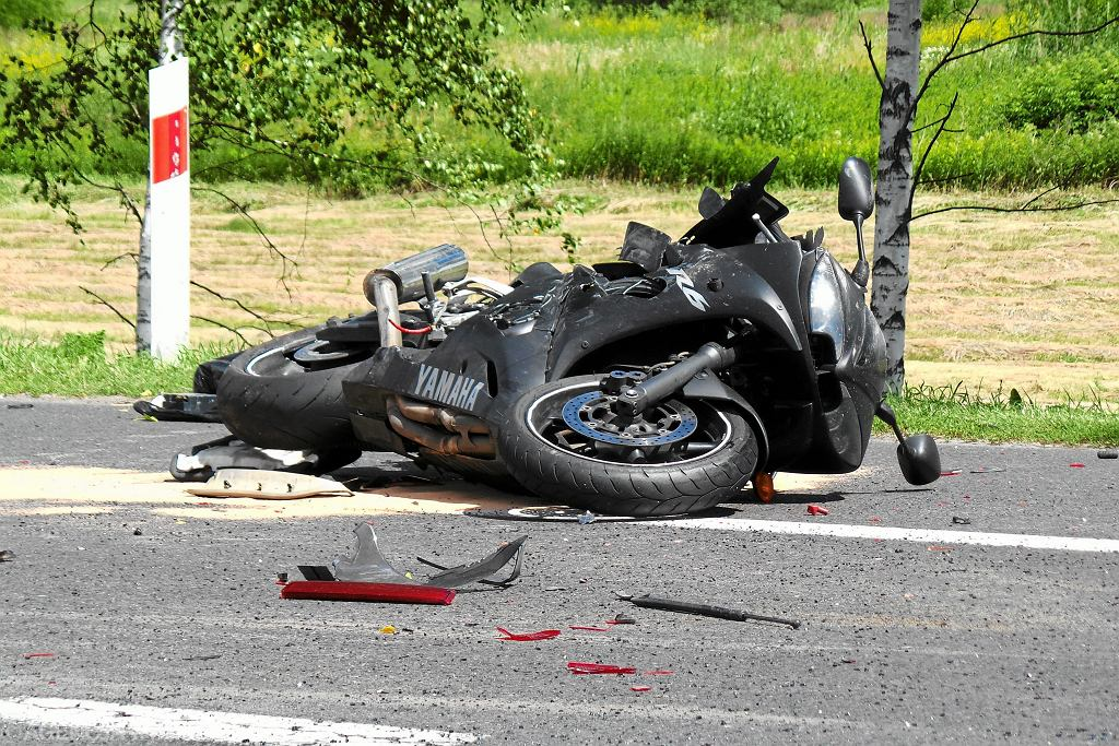 Wypadek motocyklowy [zdjęcie ilustracyjne]