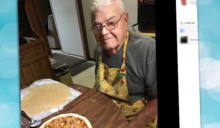 98-letni wdowiec piecze ciasta z potrzeby serca.