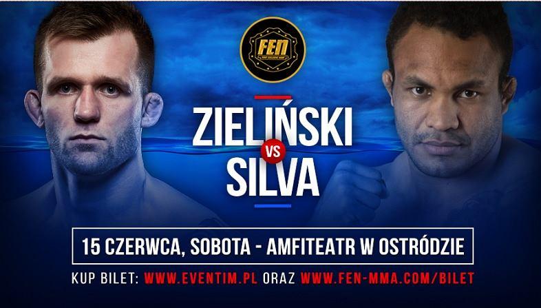 Fabiano Silva kontra Adrian Zieliński. To starcie zobaczymy na gali FEN 25