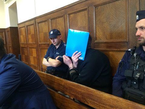 Piotr K. podczas ogłaszania wyroku
