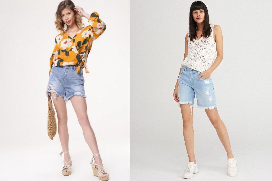 3773562838f477 Jeansowe szorty - jakie modele wybrać i z czym je nosić? Modele na ...