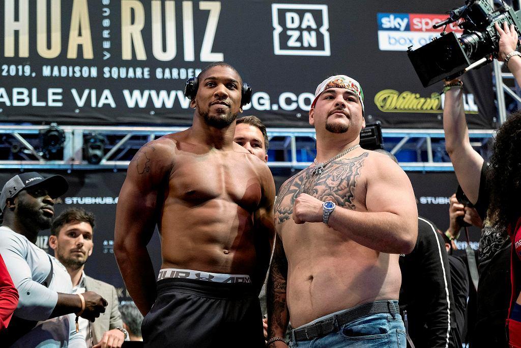 Anthony Joshua i Andy Ruiz przed walką