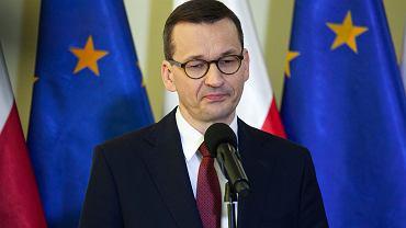 Mateusz Morawiecki podczas konferencji 22 maja