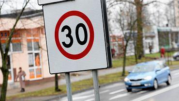 Strefa Tempo 30 w rejonie ulic Wrocławskiej i Zamenhofa w Olsztynie