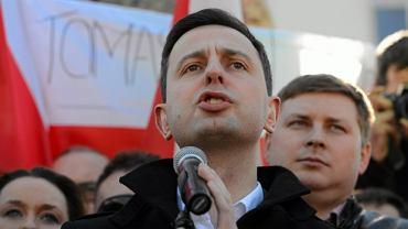 Władysław Kosiniak-Kamysz podczas manifestacji rolników przeciwko ustawie o obrocie ziemia rolna