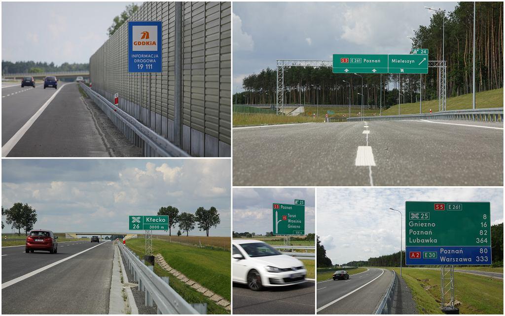 Znaki eksperymentalne na drodze S5
