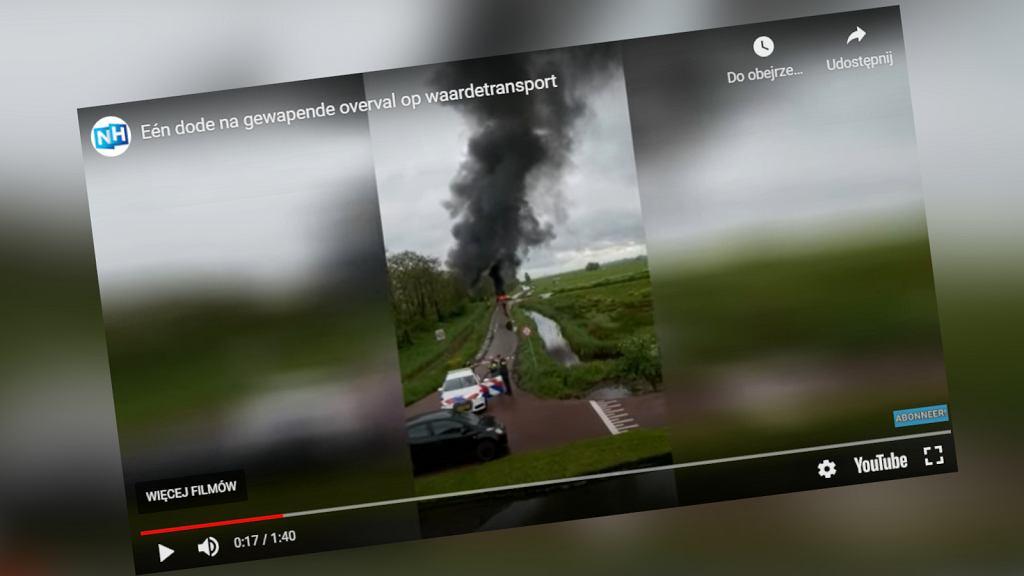 Amsterdam. Strzelanina, która zakończyła się pościgiem policyjnym i płonącymi samochodami