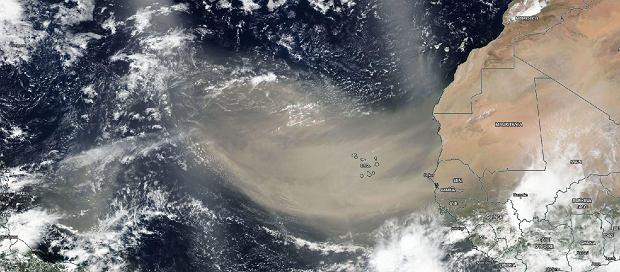 Piach znad Sahary wędruje przez Atlantyk - 18.06.2020
