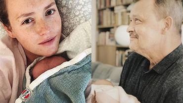 Jan Frycz z córką