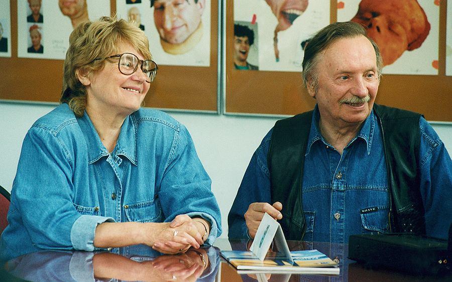 Wojciech Pokora z żoną Hanną
