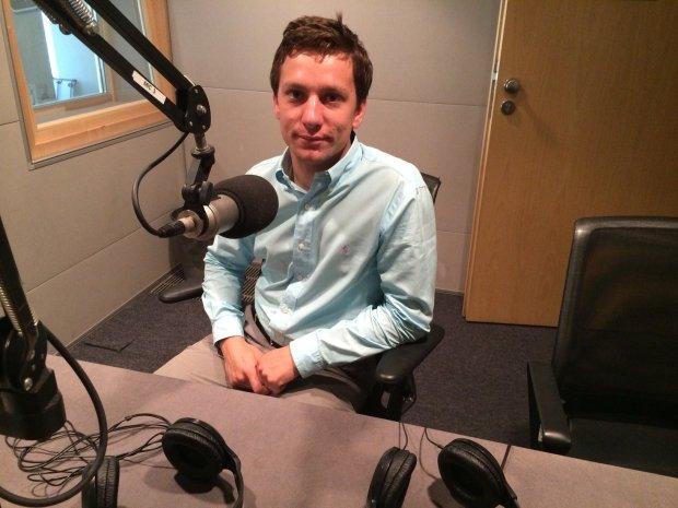Marek Bosak w studiu TOK FM