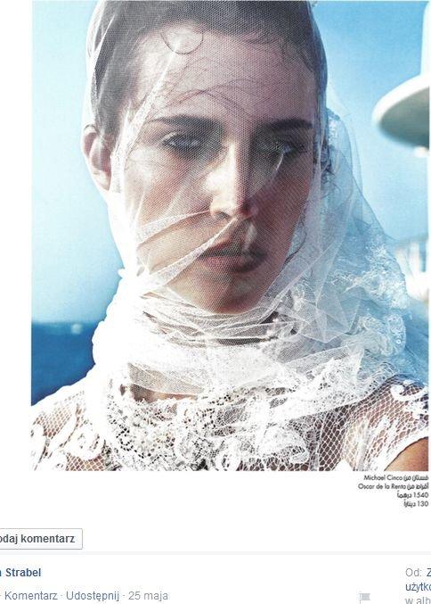 Michalina Strabel w 'Marie Claire Arabia'