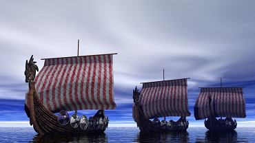 Być może na takich statkach wikingowie przepłynęli Atlantyk.