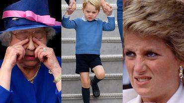 Królowa Elżbieta, książę George, księżna Diana