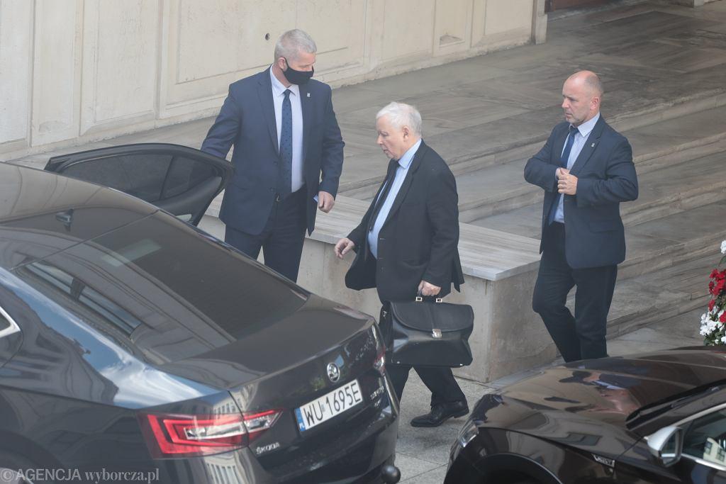 Jarosław Kaczyński po tajnym posiedzeniu Sejmu