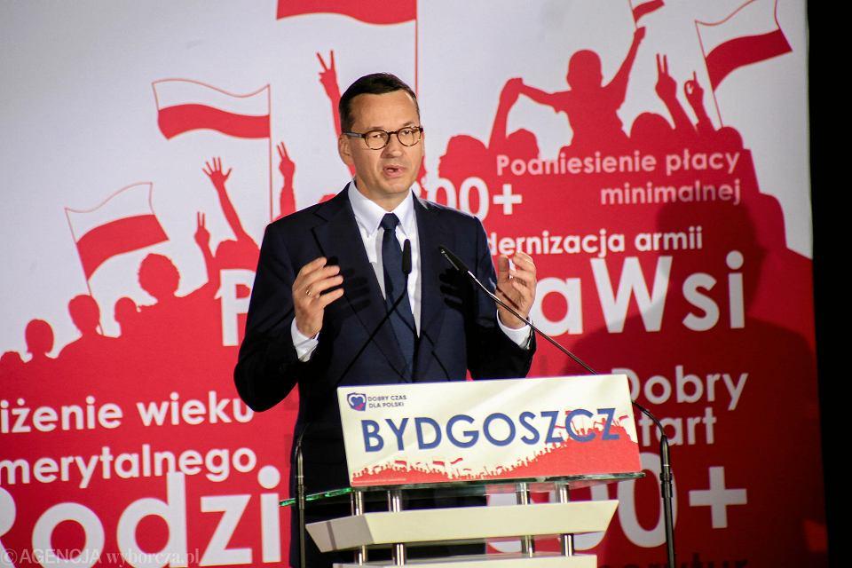 Konwencja wyborcza PiS w Bydgoszczy z udziałem premiera Mateusza Morawieckiego