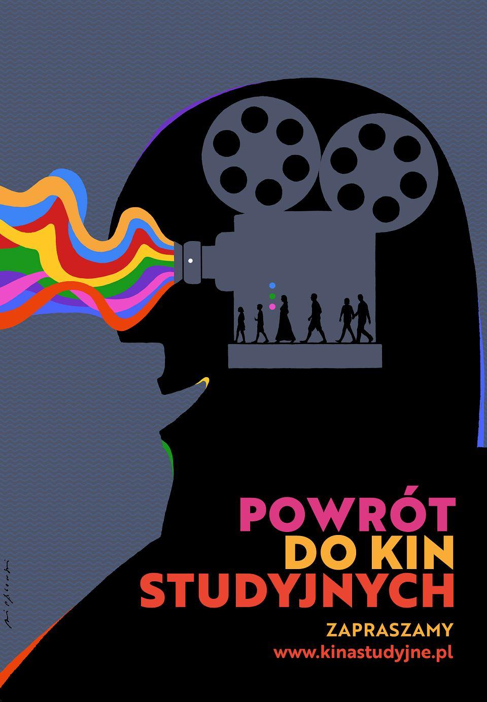 Plakat Powrót do kin studyjnych, Andrzej Pągowski,