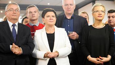 Wybory 2018. Wieczór wyborczy w sztabie PiS i Małgorzaty Wassermann.