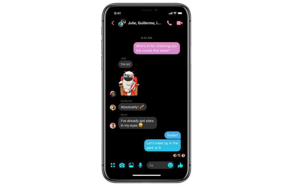 Tryb Dark Mode w Messengerze 4