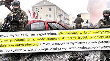 Pokaz organizacji paramilitarnej