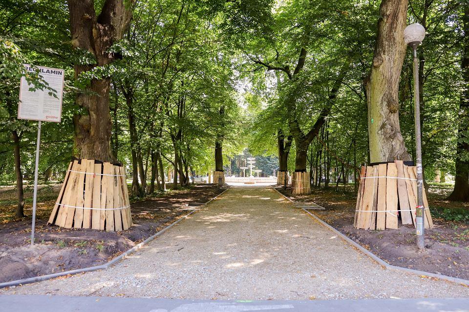 Remont alejek w parku Kopernika