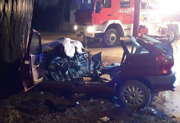 Tragiczny wypadek w Brzozowej. Zginęli 21-latek i 20-latka. Kierowca nie miał uprawnień