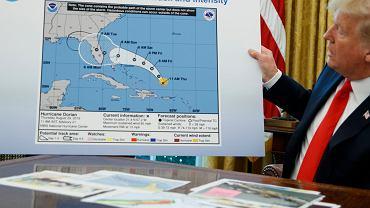 Donald Trump pokazał mapę z dorysowanym markerem obszarem