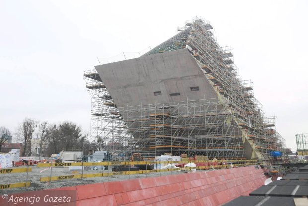 01.03.2016 Gdansk , budowa Muzeum II wojny Swiatowej Fot. Rafal Malko / Agencja Gazeta  SLOWA KLUCZOWE: /FR/ SLOWA KLUCZOWE: /FR/